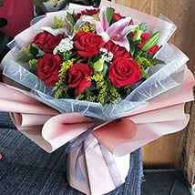 Beautiful Roses and Lily: Send Gifts To China