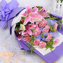 Shades Of Pink Florals: Send Flowers To China