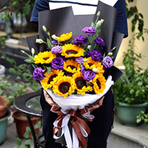Sunflowers and Eustomas: Flower Delivery China