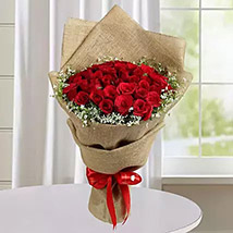 Appealing Red Roses Bunch: Gift Delivery to India