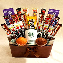Coffee and Cupcakes Chocolaty Basket: Send Gifts to Jordan