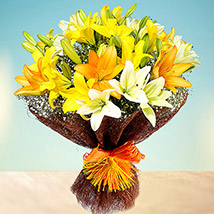 Sunny Asiatic Lilies LB: Send Gifts to Lebanon