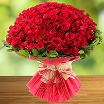 100 Red Roses: New Year Gifts