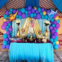 Alladin and Jasmine Theme Decoration Set up: Experiential Gifts