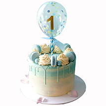 Balloon Decorated Cake: Baby Shower Cakes