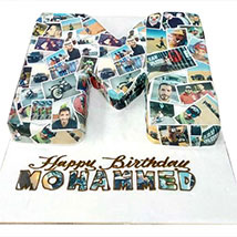 Birthday Cake with Picture: Personalised Gifts for Father