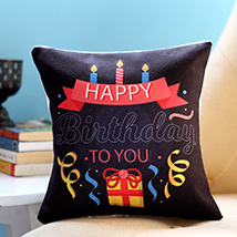 Birthday Candles and Gift Cushion: Personalised Gifts