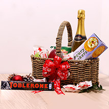 Chocolates And Juice Gift Basket: New Year Gifts