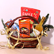 Cookie And Snack Basket: Birthday Gift Hampers