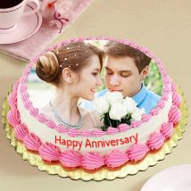 Delicious Anniversary Photo Cake: Customized Cakes in Dubai