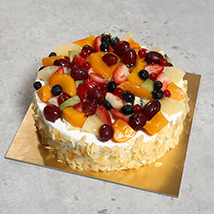 Eggless Fresh Fruit Fantasy: Eggless Cakes