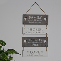 Family Home Friends and Love Wall Hanging: New Arrival Gifts in Dubai