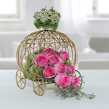 Fresh Pink Rose Arrangement: Mothers Day Gifts
