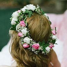 Gorgeous Floral Tiara: Flowers for Bride