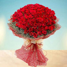 Grand 100 Red Roses: I Am Sorry Flowers
