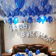 Happy Birthday Blue and Silver Balloon Decor: Experiential Gifts