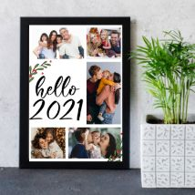 Hello 2021 Personalised Frame: Personalised Photo Frames