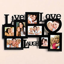 Live Love Laugh Photo Frame: Personalised Gifts for Anniversary