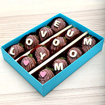 Love You Mom Chocolate Strawberries: Mother's Day Gifts
