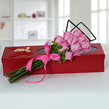 Mesmeric Pink Roses Bouquet: Mother's Day Gift Ideas