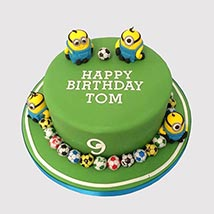 Minion Playing Football Cake: 1st Birthday Cakes