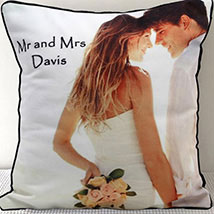 Mr N Mrs Personalized Cushion: Anniversary Personalised Gifts