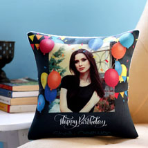 Personalised Birthday Balloons Cushion: Birthday Gifts for Wife