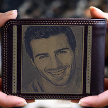 Personalised Mens Wallet With Photo: Fathers Day Gifts