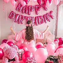 Princess Birthday Surprise: Balloon Decorations