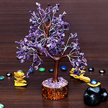 Purple Agate Stone Handcrafted Wishing Tree: Home Decor Items