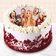 Red velvet Photo Cake For Birthday: Custom Cakes