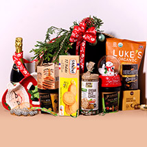 Sparkling Juice And Snack Hamper: Christmas Gifts