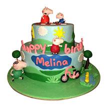 Piggy Family Cake: Peppa Pig Cake