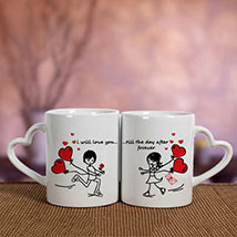 White Love Mugs: Personalised Gifts for Girlfriend