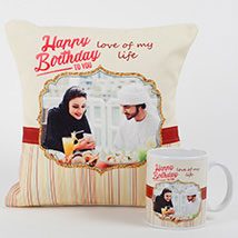 Romantic Personalized Mug N Cushion: Personalised Gifts to Dubai