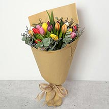Beautiful Tulips Bouquet: Birthday Gifts for Son