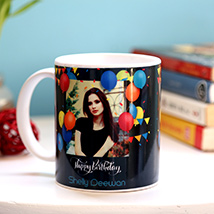 Personalised Birthday Balloons Mug: Personalised Gifts for Father