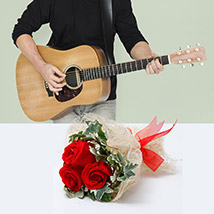 Express Love With Music: Flowers & Guitarist Service