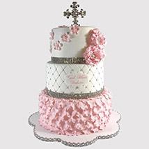 3 Layered Christening Cake: Christening Cakes for Boys/Girls