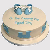 Baby Shoes Cake: Christening Cakes for Boys/Girls