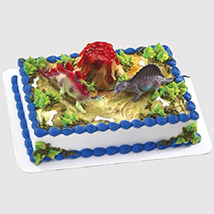 Dinosaur and Volcano Cake: Dinosaur Cake