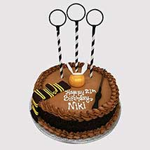 Magical Quidditch Theme Cake: Harry Potter Cake