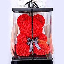 Artificial Red Roses Teddy: Birthday Gifts to Dubai