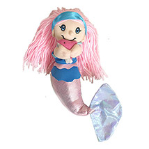Soft Toy Mermaid Holding Baby Dolphin: