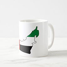 Printed UAE Map Mug: National Day Gifts