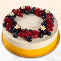 Yummy Vanilla Berry Delight Cake: Anniversary Eggless Cakes