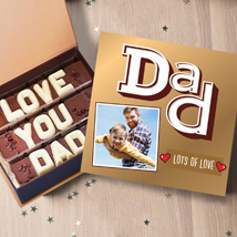 Love You Dad Personalised Chocolate Box: Fathers Day Chocolates