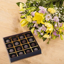 Mix Flower Bouquet With Chocolates: Flowers and Chocolates