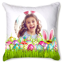 White Personalised Cushion: Easter Gifts