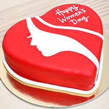Womens Day Red Velvet Cake: Gifts for Womens Day